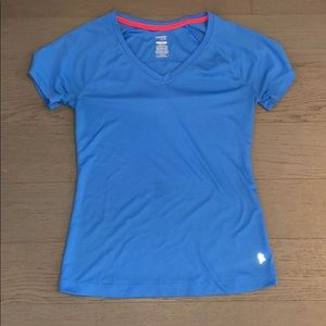 Pretty blue work out shirt in size small.